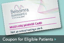 Coupon for Eligible Patients Prescribed BELSOMRA® (suvorexant) C-IV